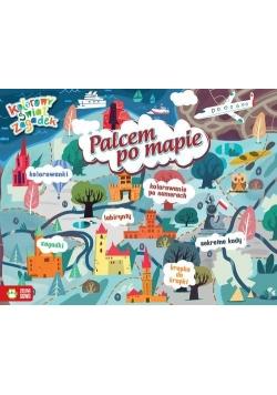 Kolorowy świat zagadek Palcem po mapie