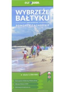 Mapa Turystyczna. Wybrzeże Bałtyku 1:300 000