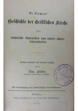 Geschichte der christlichen Kirche, 1875 r.