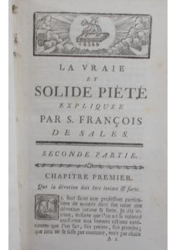La vraie et Solide Piete  , 1789 r.