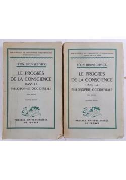 Le progrès de la conscience dans la philosophie occidentale. Tome II-III,