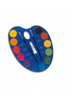 Farby akwarelowe 12 kolorów 44mm Paleta duża MILAN