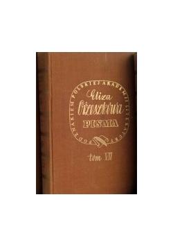 Pisma, Tom VII,  1937 r.