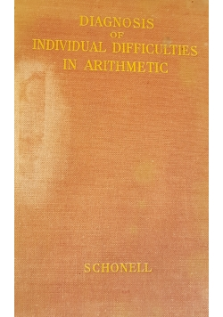 Diagnosis of individual difficulties in arithmetic
