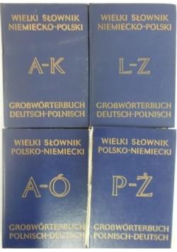 Wielki słownik niemiecko-polski, Tom I-II i I-II