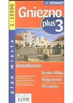 Plan miasta Gniezno +3 1:20 000 DEMART