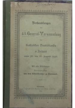 Berhandlungen der 43 Gruernt -Versnmmtung  1896 r.