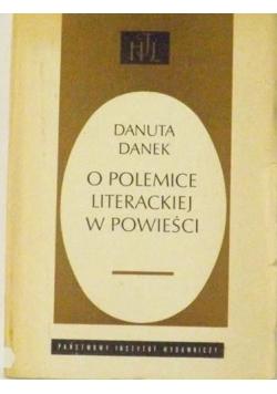 O polemice literackiej w powieści
