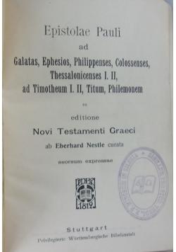 Epistolae Pauli, r. ok. 1819