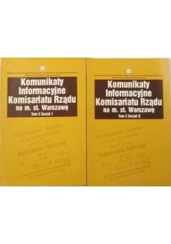 Komunikaty Informacyjne Komisariatu Rządu na m. st. Warszawę, t. II, zeszyt 1 i 2