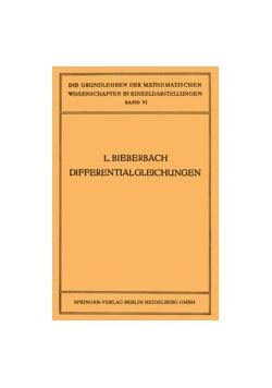 L. Bieberbach Differential gleichungen, 1923r