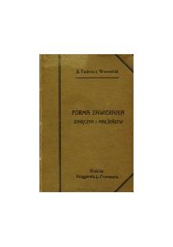 Forma zawierania zaręczyn i małżeństw, 1910 r.