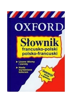 Słownik francusko-polski polsko-francuski Oxford, nowa