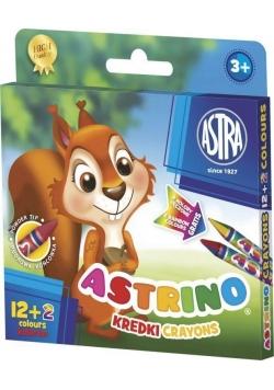 Kredki Astrino 12+2 kolory ASTRA