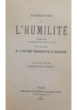 Formation a Lhumilite , 1902 r.