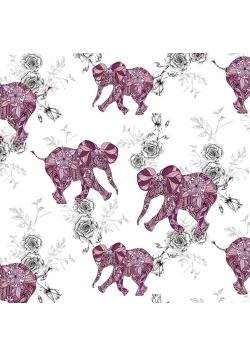 Karnet kwadrat CL0401 Etniczne słonie