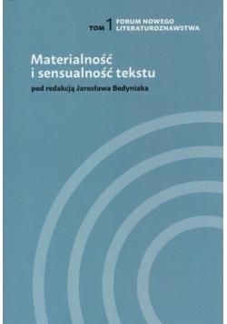 Materialność i sensualność tekstu Tom 1