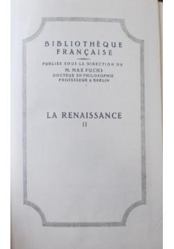 La Renaissance II, 1922 r.