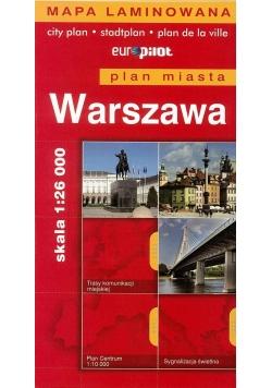 Plan Miasta EuroPilot. Warszawa laminat