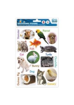 Naklejki edukacyjne zwierzęta domowe