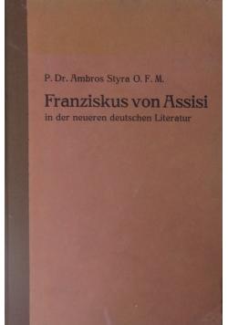Franziskus von Assisi in der neueren deutschen Literatur