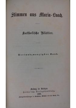 Stimmen aus Maria-Laach, 1882 r.