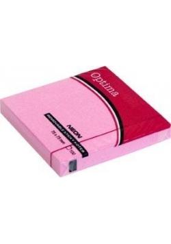 Karteczki samoprzylepne 75x75mm różowe OPTIMA