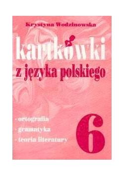Kartkówki z języka polskiego klasa 6