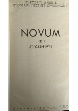 Novum nr.1 - 11-12, 1974r.