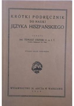 Krótki podręcznik do nauki języka hiszpańskiego, 1929 r.