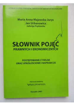 Słownik pojęć prawnych i ekonomicznych