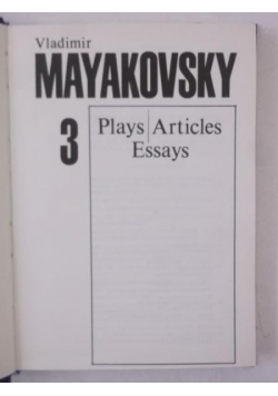 Plays Articles Essays 3