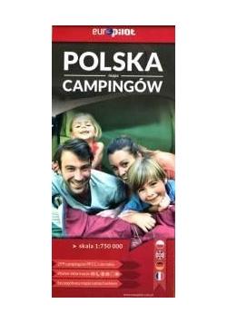 Polska mapa campingów 1:750 000