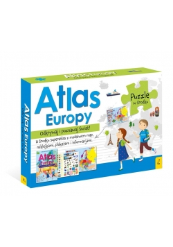 Pakiet: Atlas Europy/Plakat z mapą/ Puzzle