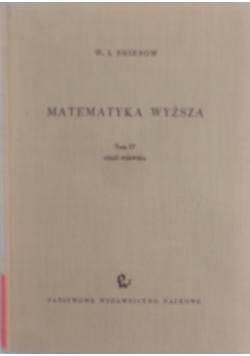 Matematyka wyższa, tom 4, cz. 1