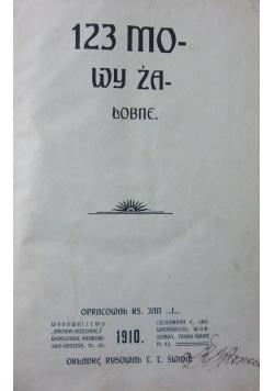123 mowy żałobne, 1910 r.