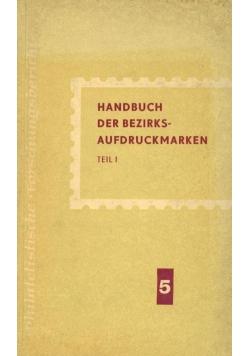 Handbuch Der Bezirks Aufdruckmarken