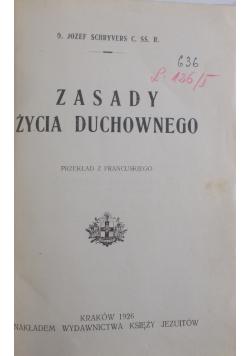 Zasady życia duchownego, 1926 r.