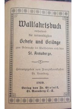 Wallfahrtsbuch, 1919 r.