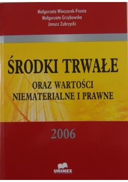 Środki trwałe oraz wartości niematerialne i prawne 2006