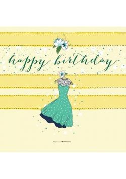 Karnet Swarovski kwadrat CL0205 Urodziny Sukienka