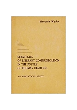 Strategies of literary communication in the poetry of Thomas traherne
