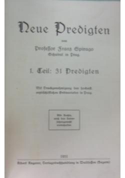 Neue Predigten, 1931 r.