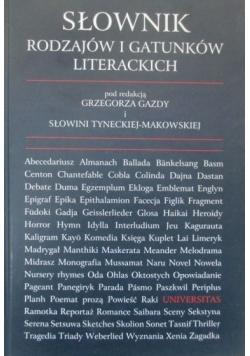 Słownik rodzajów i gatunków literackich