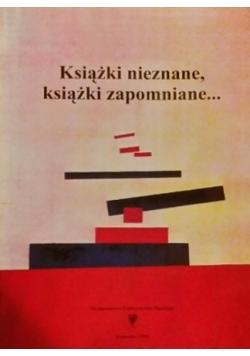 Książki nieznane, książki zapomniane...