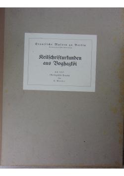 Keilschrifturkunden aus Boghazkoi, Heft XXVIII, 1935 r.
