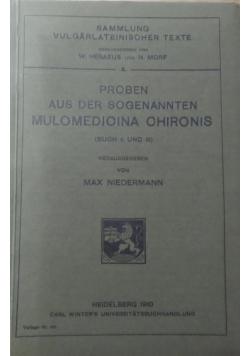 Proben aus der sogenannten Mulomedicina Chironis, 1910 r.