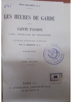 Les Heures De Garde, ok 1904 r.