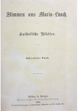 Stimmen aus Maria Laach 18 band, 1880r.