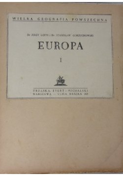 Europa I, ok. 1935r.
